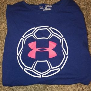 Blue and pink Under Armour shirt